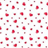 Безшовная картина с красными сердцами. Стоковое фото RF