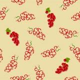 Безшовная картина с красными смородинами Стоковая Фотография