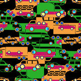 Безшовная картина с красочными маленькими автомобилями Стоковые Изображения RF