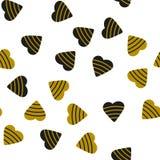 Безшовная картина с красочными сердцами на день Валентайн вектор иллюстрация вектора