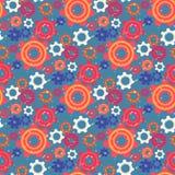 Безшовная картина с красочными шестернями и Cogwheels иллюстрация штока