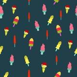 Безшовная картина с красочным мороженым иллюстрация штока