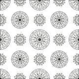 Безшовная картина с кругами и спиралями Стоковое фото RF