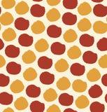 Безшовная картина с кругами поставила точки предпосылка Стоковое Изображение RF