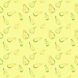 Безшовная картина с кусками груши Стоковые Изображения RF