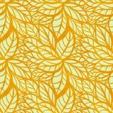 Безшовная картина с листьями акварели иллюстрация штока