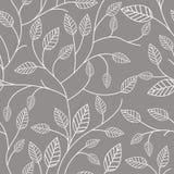 Безшовная картина с листьями Стоковое Фото