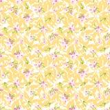 Безшовная картина с маленькими розовыми цветками Стоковое Изображение RF