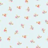Безшовная картина с маленькими цветками Стоковая Фотография