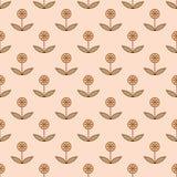Безшовная картина с малыми декоративными цветками Стоковая Фотография RF