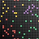 Безшовная картина с малыми покрашенными квадратами иллюстрация вектора