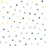 Безшовная картина с малыми треугольниками Стоковое Изображение