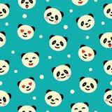 Безшовная картина с медведем панды Стоковые Изображения RF