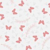 Безшовная картина с милыми бабочками Стоковые Фотографии RF