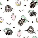 Безшовная картина с милым ежом в скандинавском стиле Творческая ребяческая предпосылка для ткани, ткани Стоковые Изображения RF