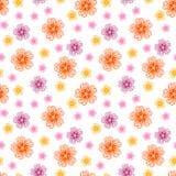 Безшовная картина с много цветков осени иллюстрация штока