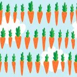 Безшовная картина с морковами Стоковое фото RF