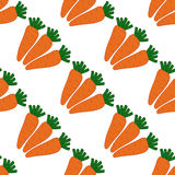 Безшовная картина с морковами Стоковые Изображения RF