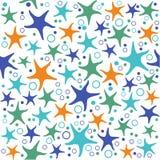 Безшовная картина с морскими звёздами Стоковое Изображение RF
