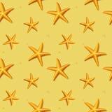 Безшовная картина с морскими звёздами. Иллюстрация вектора. Стоковые Изображения RF