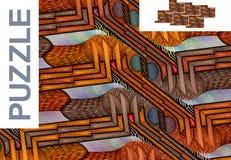 Безшовная картина с москитами - головоломка Стоковая Фотография