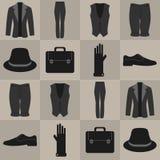 Безшовная картина с мужскими одеждами иллюстрация вектора