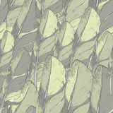 Безшовная картина с нарисованными вручную пер Элементы дизайна Hippie Стоковое Изображение RF