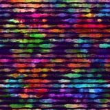 Безшовная картина с нашивками и ходами щетки Цвет радуги на фиолетовой предпосылке Покрашенная рукой текстура усадьбы чернила иллюстрация штока