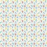 Безшовная картина с номерами для дизайна школы Стоковые Изображения