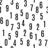 Безшовная картина с номерами стоковая фотография