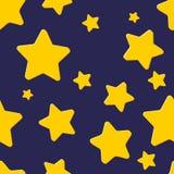 Безшовная картина с ночным небом и звездами Стоковое фото RF
