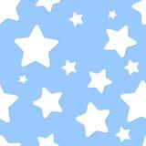 Безшовная картина с ночным небом и звездами Стоковая Фотография
