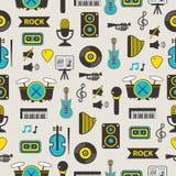 Безшовная картина с оборудованием музыки Стоковое Изображение RF