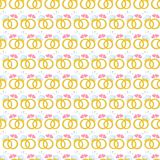 Безшовная картина с обручальными кольцами золота вектор Стоковая Фотография RF
