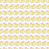 Безшовная картина с обручальными кольцами золота вектор Стоковое Фото
