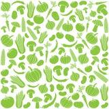 Безшовная картина с овощами Стоковые Фото