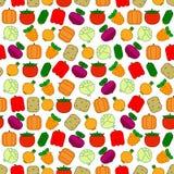 Безшовная картина с овощами Стоковые Изображения
