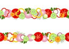 Безшовная картина с овощами Стоковое фото RF