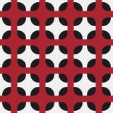 Безшовная картина с округленными квадратами Стоковое Фото