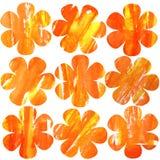 безшовная картина с оранжевыми текстурированными цветками на белой предпосылке бесплатная иллюстрация