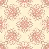 Безшовная картина с орнаментом цветка Стоковые Фотографии RF