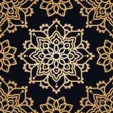 Безшовная картина с орнаментом madala Стоковые Фотографии RF