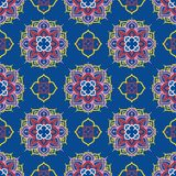 Безшовная картина с орнаментом madala Стоковые Изображения RF
