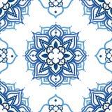 Безшовная картина с орнаментом madala Стоковая Фотография RF