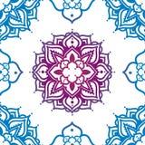 Безшовная картина с орнаментом madala Стоковое Изображение RF