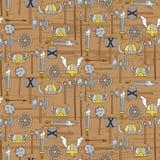 Безшовная картина с оружиями Викинга Стоковое Изображение RF