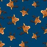 Безшовная картина с оленями Стоковое Изображение RF
