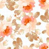 Безшовная картина с пастельными розами Стоковая Фотография