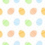 Безшовная картина с пасхальными яйцами Стоковая Фотография