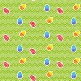 Безшовная картина с пасхальными яйцами иллюстрация вектора